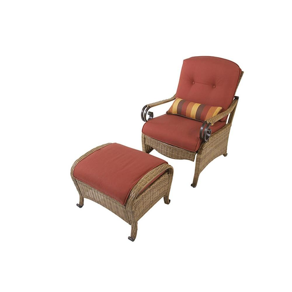 Martha Stewart Living Belle Isle Collection Patio Chair and Ottoman Set-DISCONTINUED