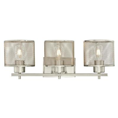 Morrison 3-Light Brushed Nickel Wall Mount Bath Light