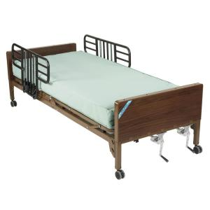 Drive Multi Height Manual Hospital Bed with Half Rails and Therapeutic Support... by Drive