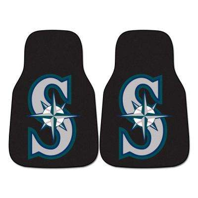 Seattle Mariners 18 in. x 27 in. 2-Piece Carpeted Car Mat Set
