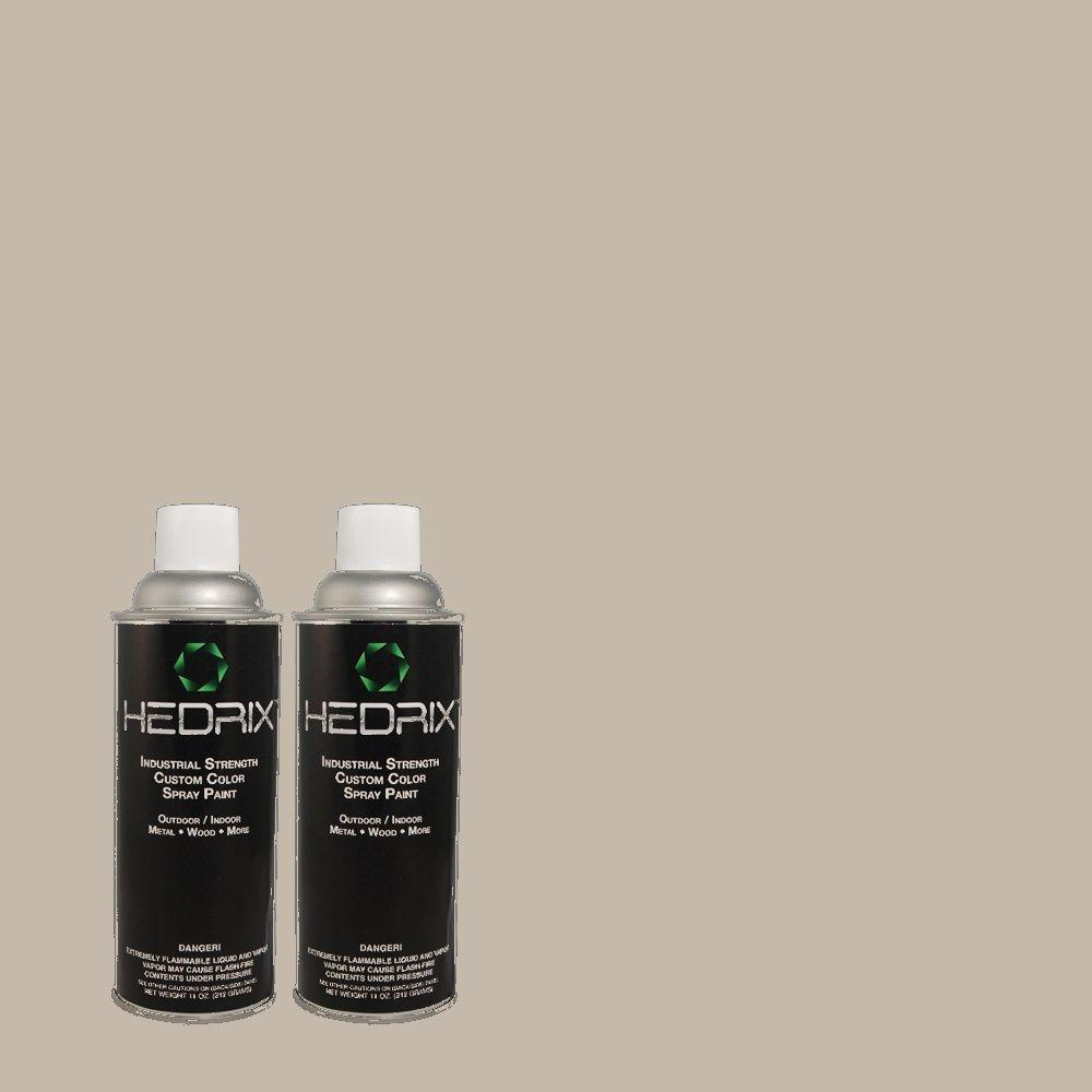 Hedrix 11 oz. Match of TH-50 Toile Gray Semi-Gloss Custom Spray Paint (2-Pack)