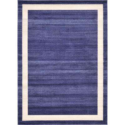 Del Mar Navy Blue 7 ft. x 10 ft. Area Rug