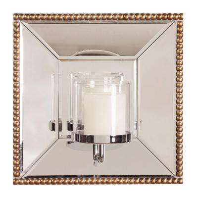 Lydia Square Mirror with Candle Holder