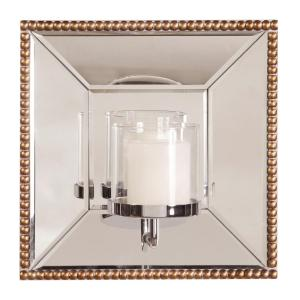 Lydia Square Mirror with Candle Holder by