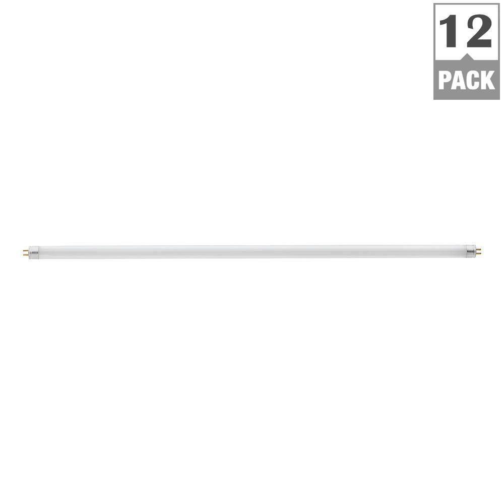 Philips 14-Watt 22 in. Linear T5 Fluorescent Light Bulb, Soft White (12-Pack)