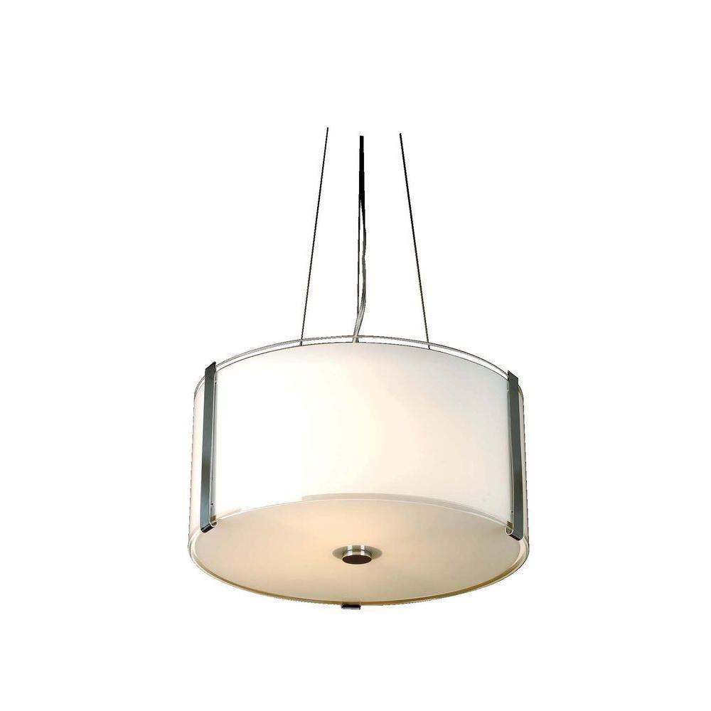 Trend Lighting Apollo 3-Light White Glass Incandescent Ceiling Pendent