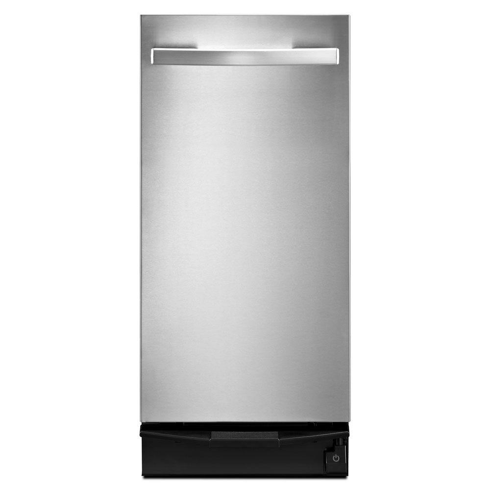Whirlpool 15 in built in trash compactor in stainless steel tu950qpxs the home depot - Built in microwave home depot ...