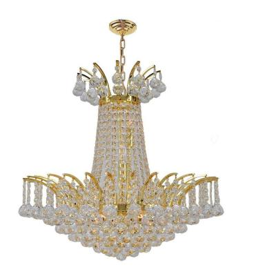 Empire Collection 8-Light Polished Gold Crystal Chandelier