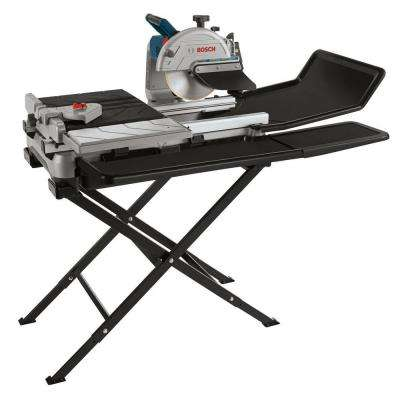 10 in. Wet Tile and Stone Saw with Folding Stand