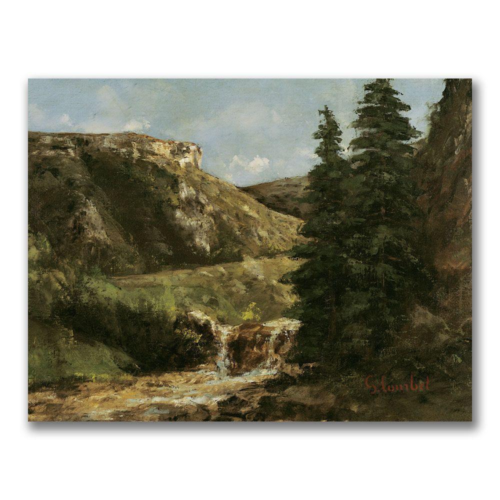 24 in. x 32 in. Landscape near Ornans Canvas Art