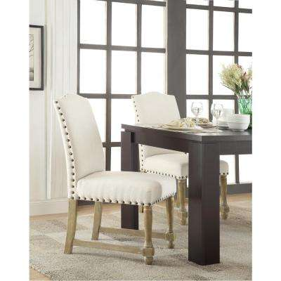 Kingman Linen White Dining Chair