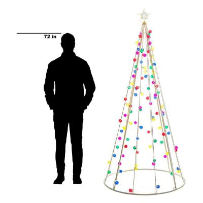 7 ft. Cone Tree with 105 Multi-Color Lights