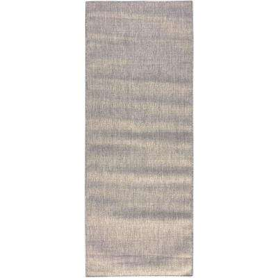 Summer Collection Solid Design Natural Mocha 3 ft. x 7 ft. Indoor/Outdoor Runner Rug