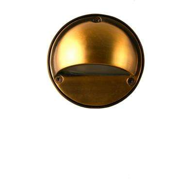 Low Voltage Solid Brass Outdoor Landscape Round Step/Deck Light