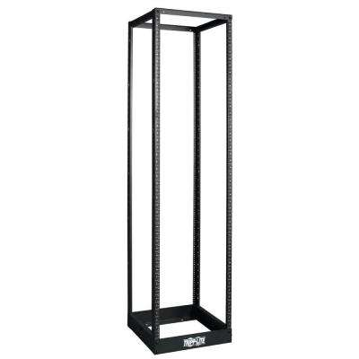 45U 4-Post Open Frame Rack Cabinet Square Holes 1000 lb. Capacity