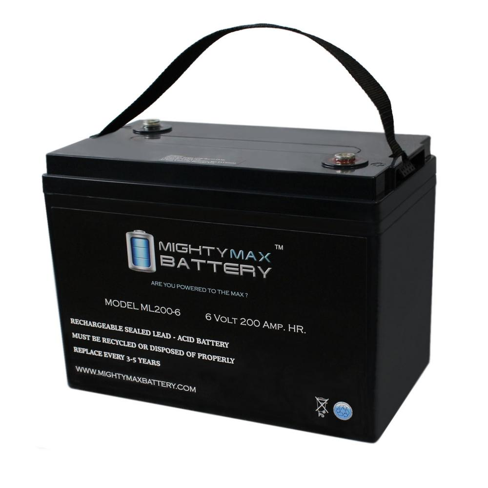 MIGHTY MAX BATTERY 6-Volt 200 Ah Rechargeable Sealed Lead Acid (SLA) Battery