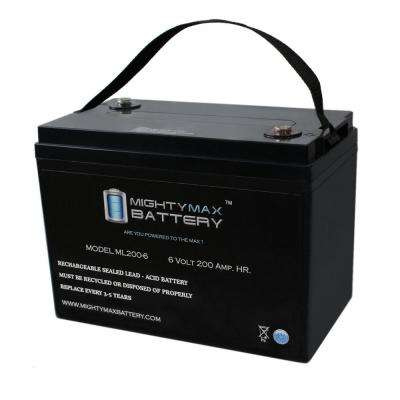 6-Volt 200 Ah Rechargeable Sealed Lead Acid (SLA) Battery