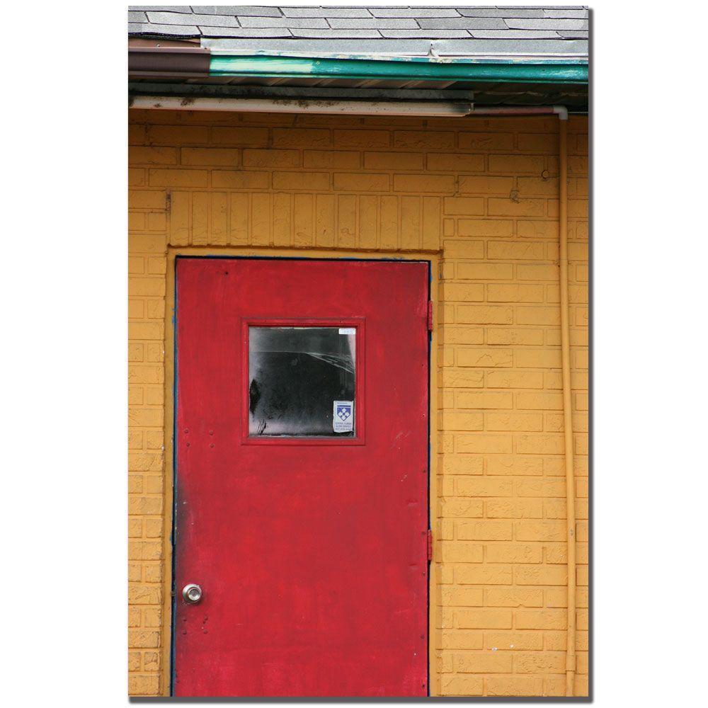 Trademark Fine Art 24 In X 16 In Red Door Canvas Art Pt084 C1624gg