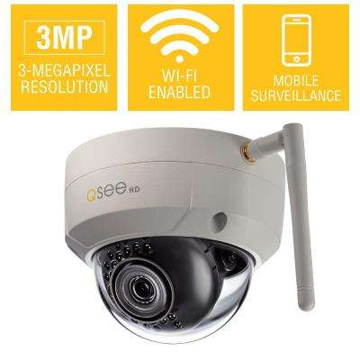 3MP Wi-Fi Indoor/Outdoor Dome Security Camera with 16GB SD Card