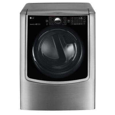 9.0 cu. ft. Gas Dryer with Steam in Graphite Steel