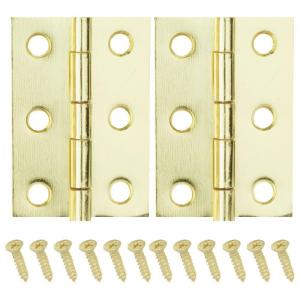 2-1/2 in. x 1-9/16 in. Bright Brass Middle Hinges