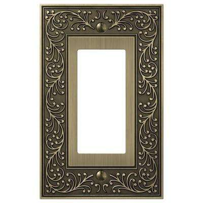 Bleinhem 1 Decora Wall Plate - Brushed Brass Cast