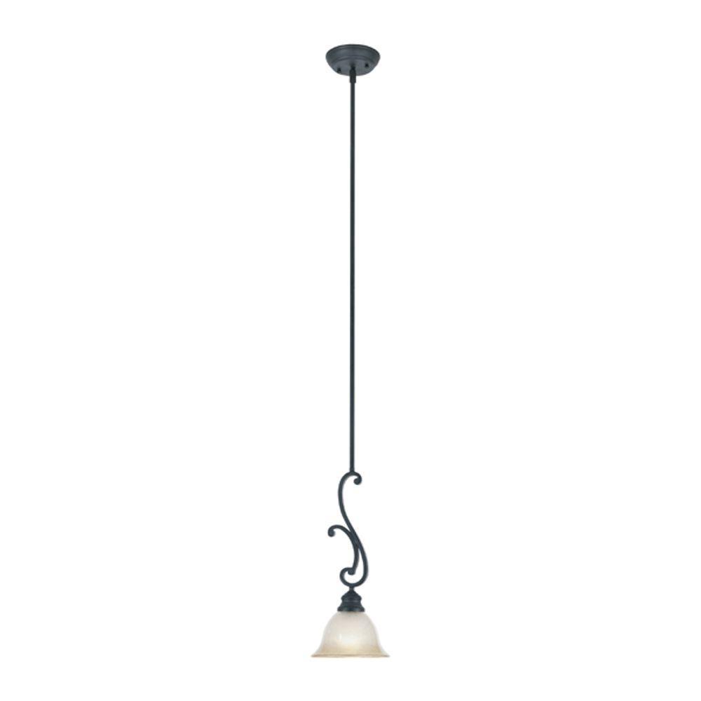 Monte Carlo 1-Light Natural Iron Hanging Mini Pendant