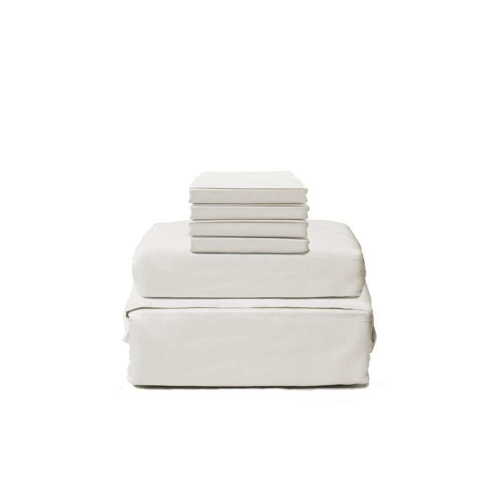Lintex 600 Twill 6-Piece Ivory Cotton/Polyester King Sheet Set 430893