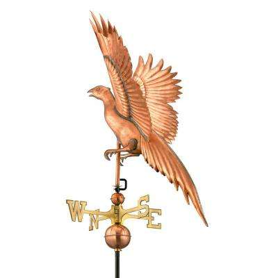 Polished Copper Pheasant Weathervane