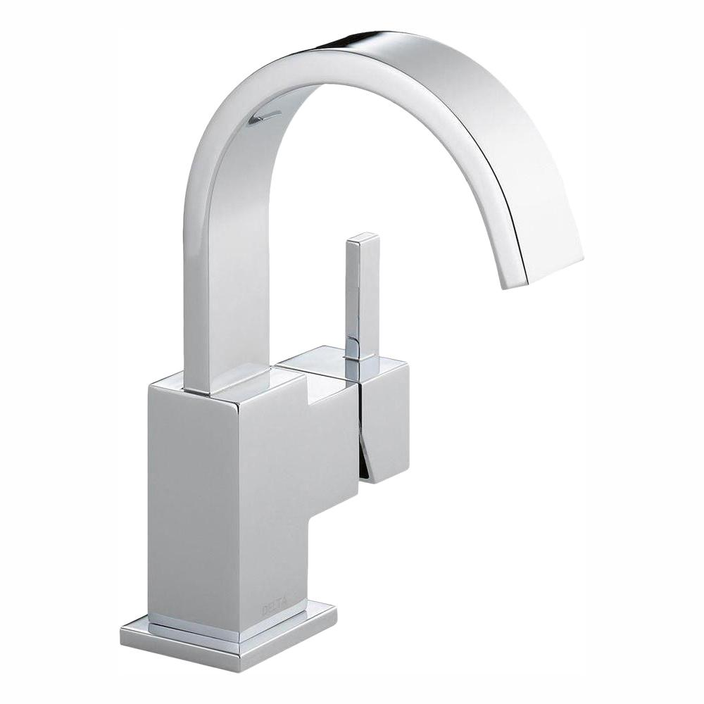 Delta Vero Single Hole Handle Bathroom Faucet With Metal Drain Embly In Chrome