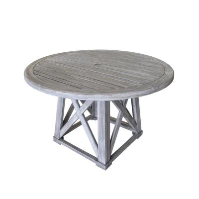 Surf Side Collection Teak Outdoor Round Dining Table