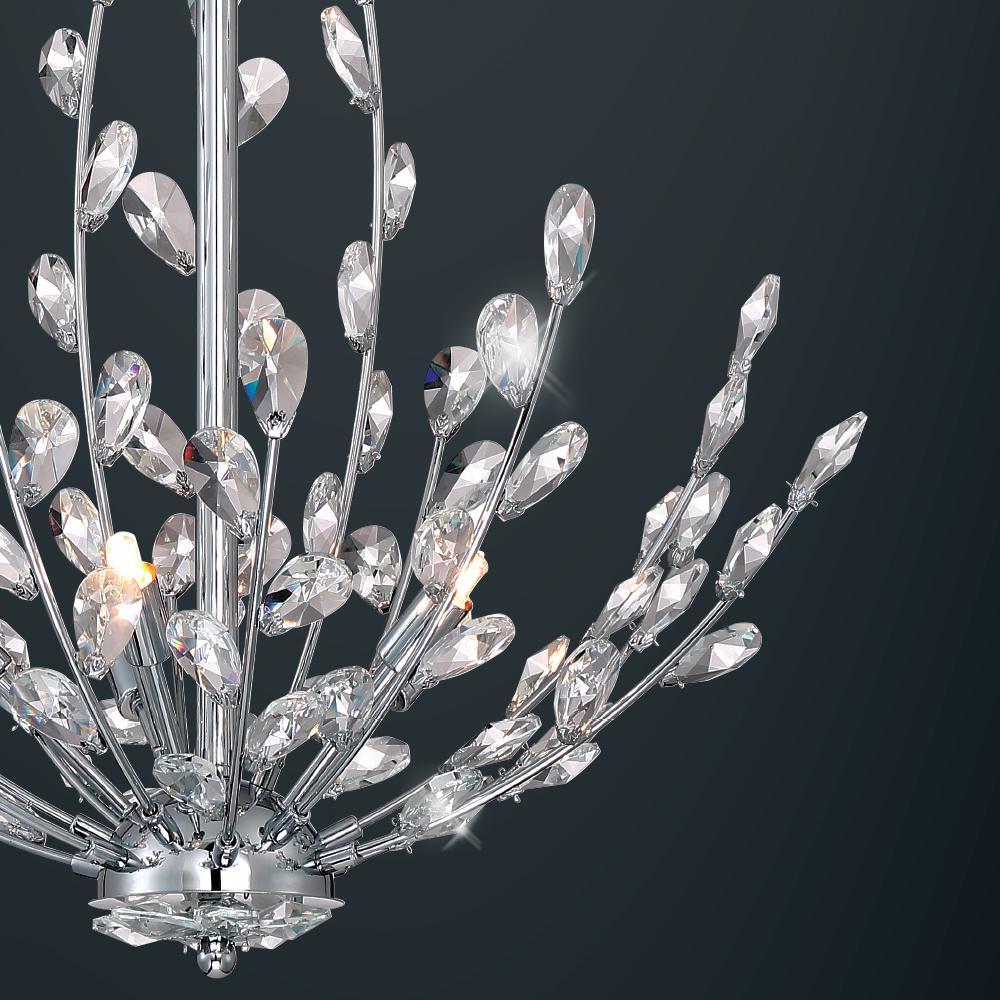 Home decorators collection hetcherson 5 light chrome pendant