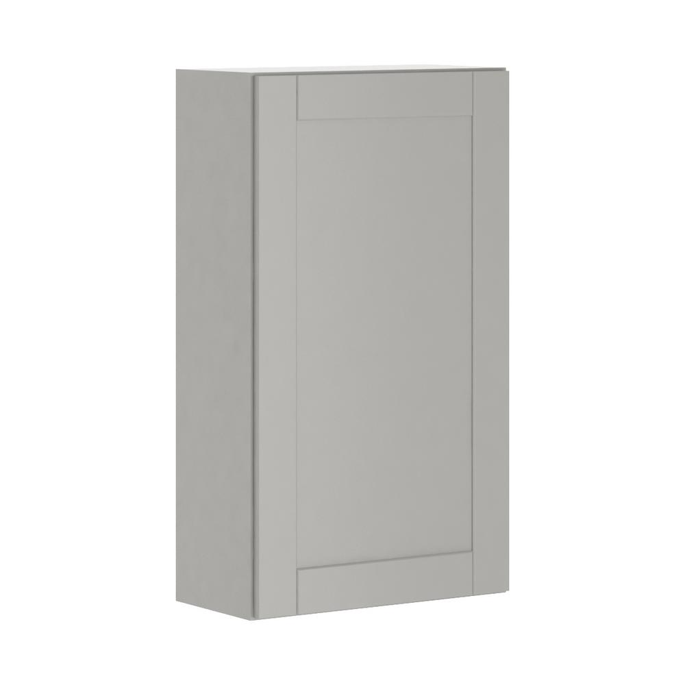 Princeton Shaker Assembled 24x42x12 in. Wall Cabinet in Warm Gray
