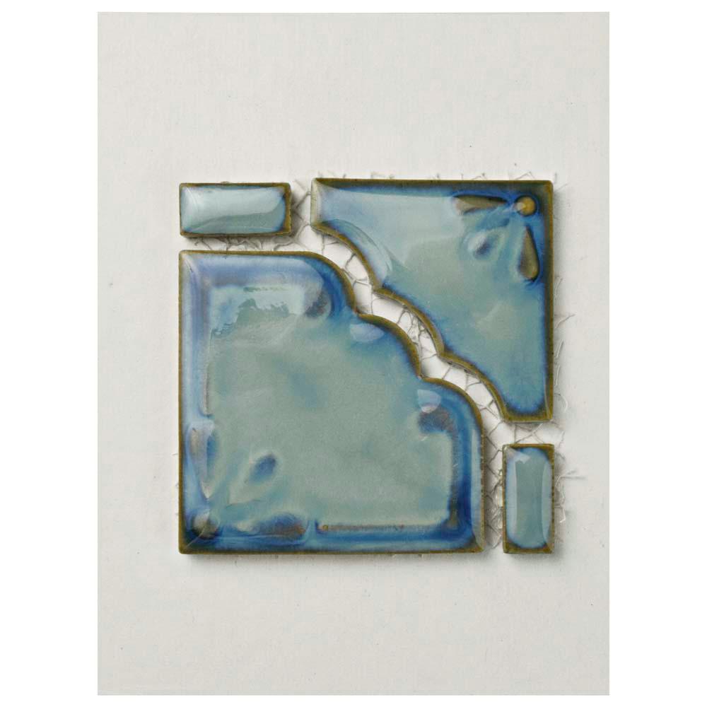 Moonbeam Diva Blue Porcelain Mosaic Tile - 3 in. x 4 in. Tile Sample