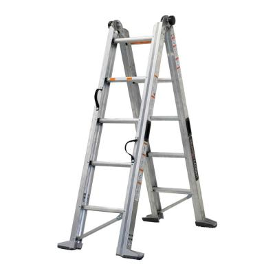 11 ft. Height 14 ft. Reach Aluminum Fully Compactable Multi-Position Ladder 375 lbs. Load Capacity Type IAA Duty Rating