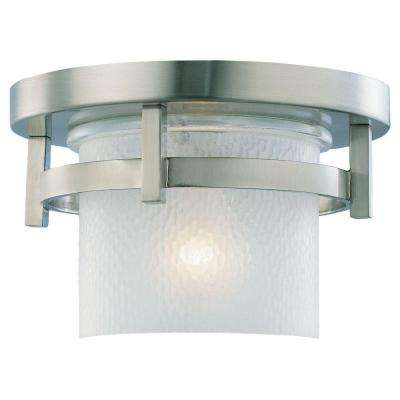 Eternity 1-Light Outdoor Brushed Nickel Hanging/Ceiling Pendant Fixture
