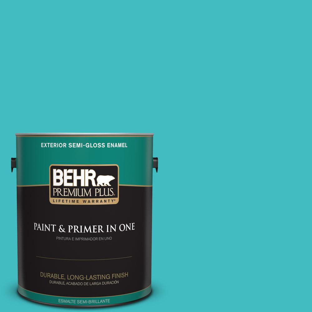 BEHR Premium Plus 1-gal. #P460-4 Lagoon Rock Semi-Gloss Enamel Exterior Paint