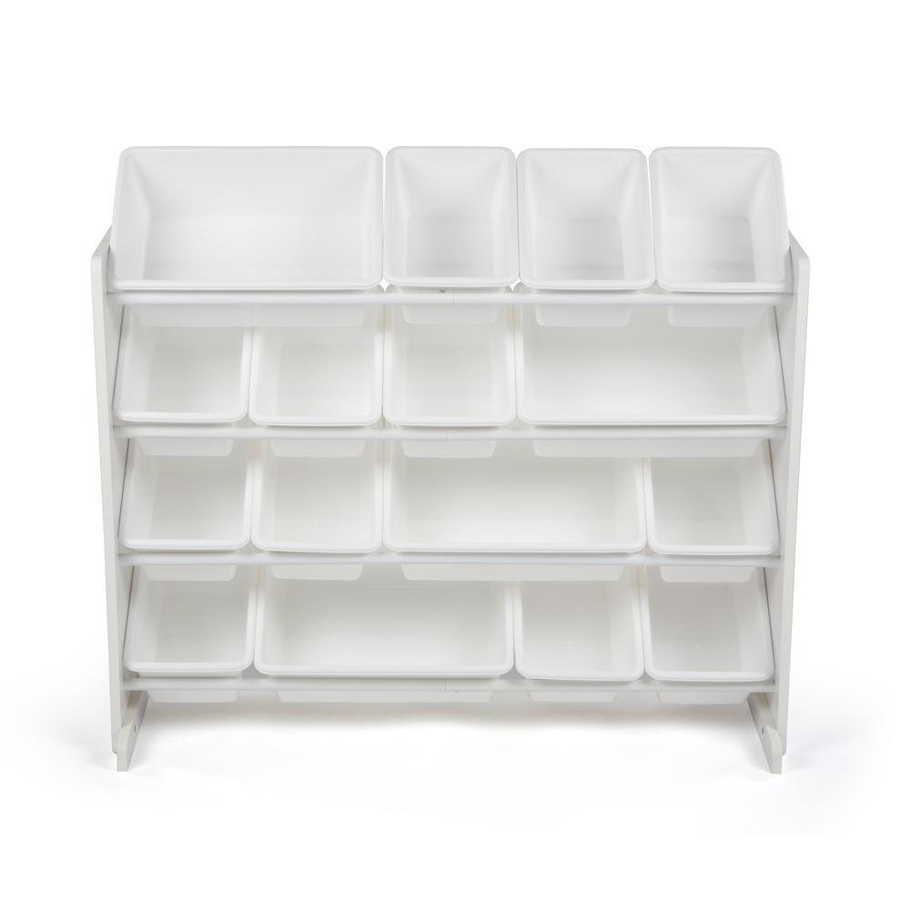 Tot Tutors Cambridge White/White Super-Sized Toy Organizer with 16-Bins
