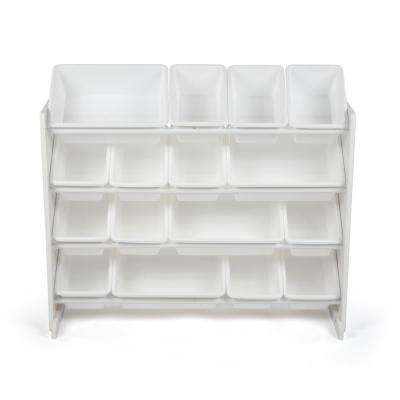 Cambridge White/White Super-Sized Toy Organizer with 16-Bins