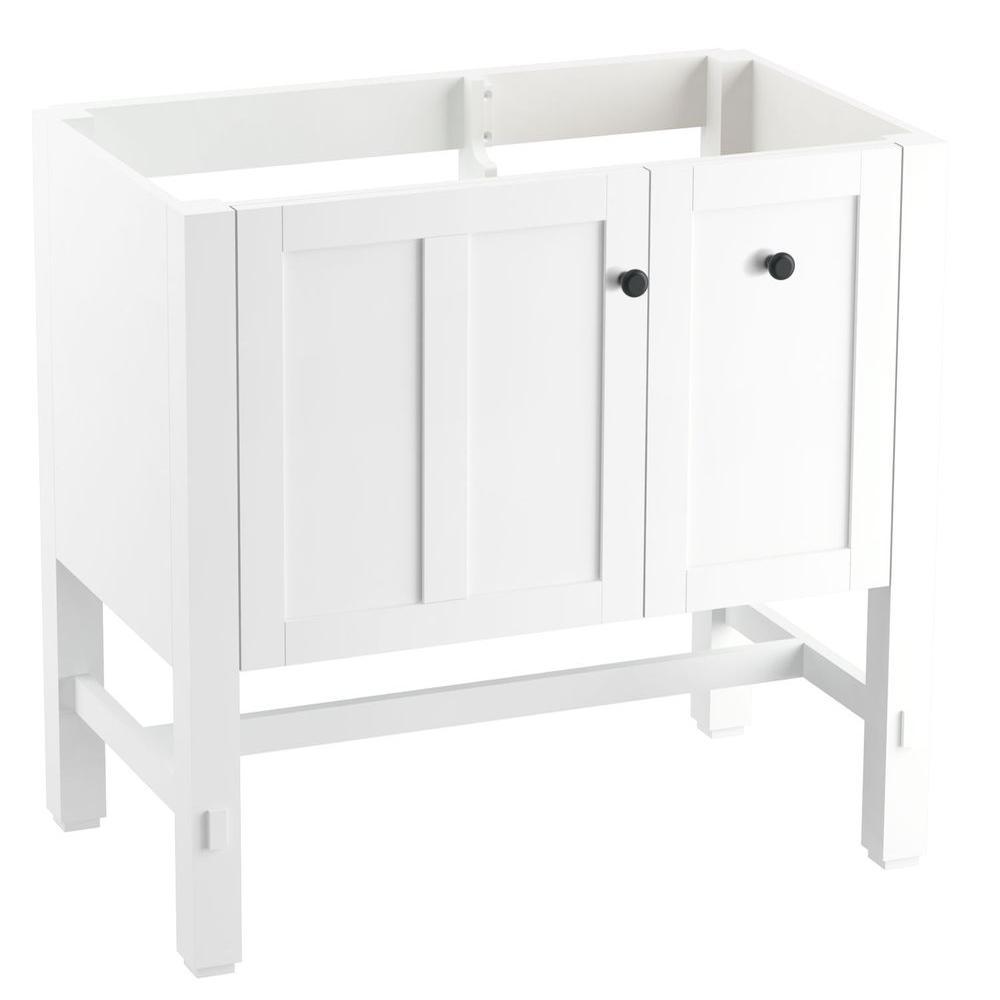 Tresham 36 in. W x 21-7/8 in. D x 34-1/2 in. H Vanity Cabinet in Linen White