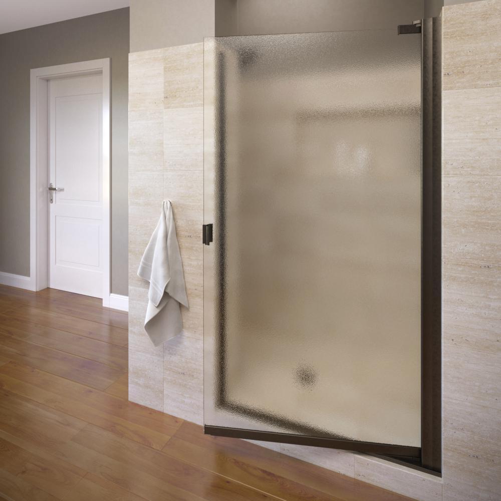Basco Classic 35-5/8 in. x 66 in. Semi-Frameless Pivot Shower Door in Oil Rubbed Bronze