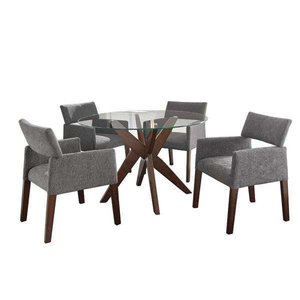 Steve Silver Amalie 5-Piece Grey Chairs Dining Set ...