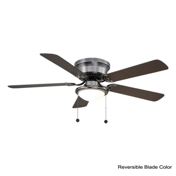 Unbranded Hugger 52 In Led Gunmetal Ceiling Fan Al383led Gm The Home Depot