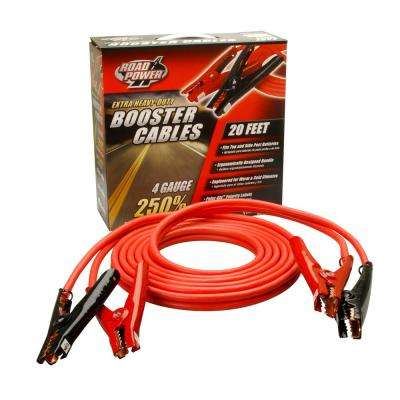 16 ft. 4-Gauge 400 Amp Red Booster Cables