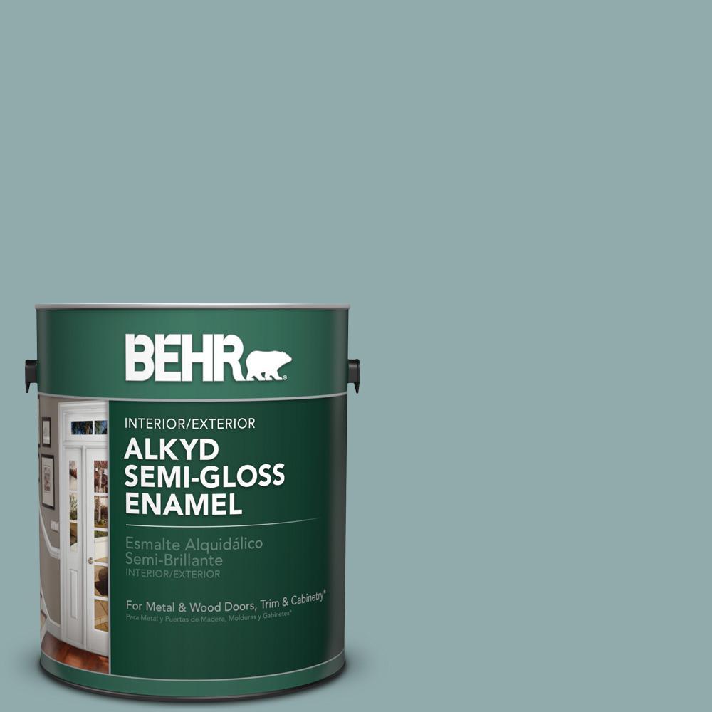 1 gal. #HDC-CL-25 Oceanus Semi-Gloss Enamel Alkyd Interior/Exterior Paint