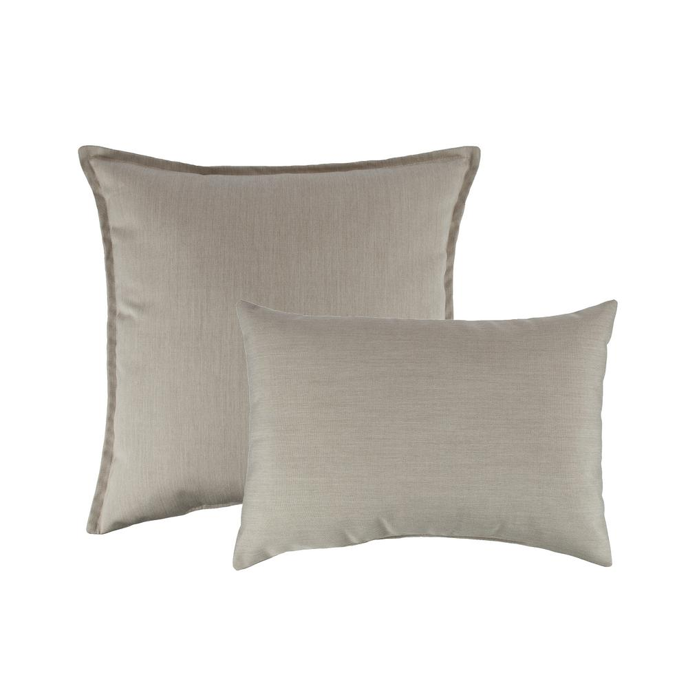 Canvas Flax Combo Outdoor Pillow