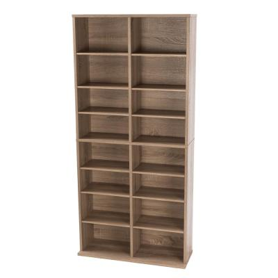 Henley Weathered Oak Adjustable Media Storage Cabinet