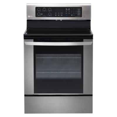 LG 6.3 cu. ft. Electric Range with EasyClean Convection Oven in Stainless Steel