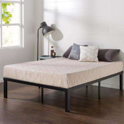 Luis Quick Lock 14 Inch Metal Platform Bed Frame, Queen