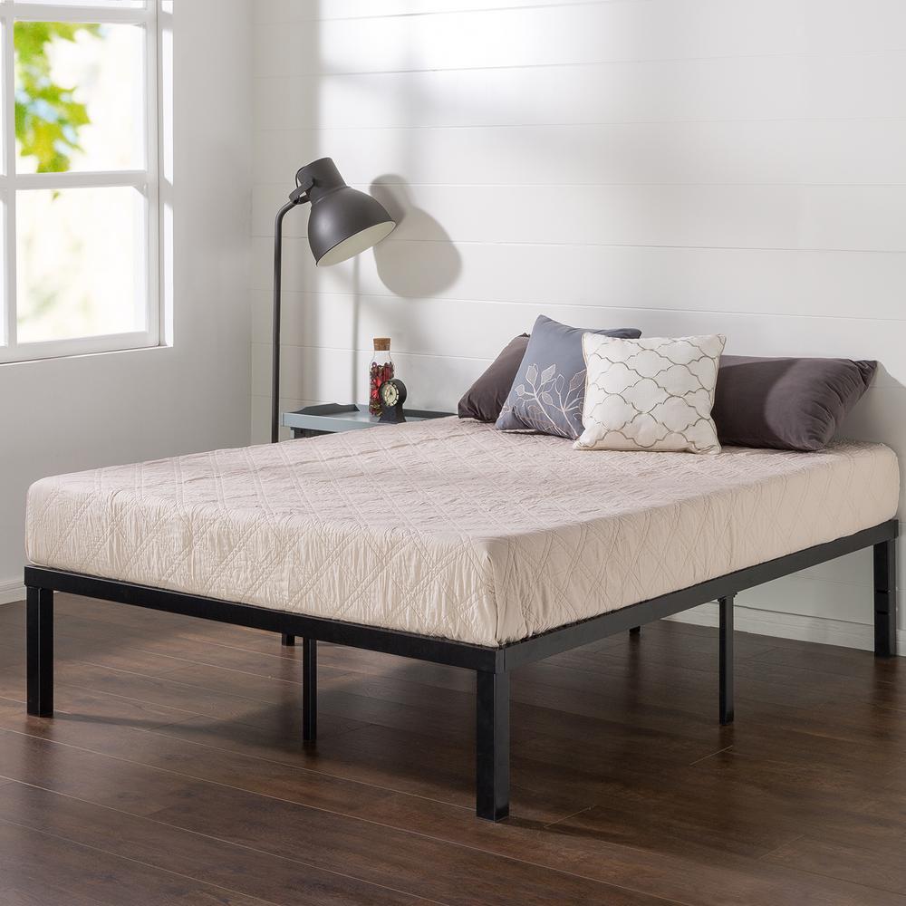 Luis Quick Lock 14 Inch Metal Platform Bed Frame, Queen